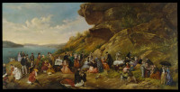 A day's picnic on Clark Island, Sydney Harbour, 1870