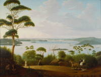 Sydney Harbour Looking Towards Sydney, 1848
