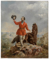 Mr E. H. Hargraves the gold discoverer of Australia, Feb 12th 1851, returning the salute of the gold miners [5th] of the ensuing May