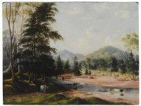 Ford on the lower Hunter, c.1840s