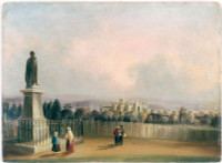 Government House, Sydney, NSW from the statue of Sir Richard Bourke, ca. 1845