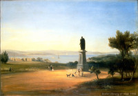 View of Harbour & Governor Bourke's Statue, 1842