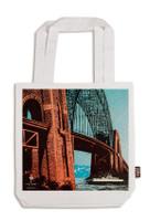 Sydney Harbour Bridge Tote Bag White