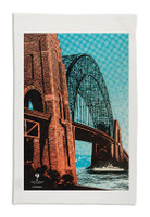 Sydney Harbour BridgeTea Towel White