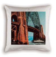 Sydney Harbour Bridge Cushion Cover White