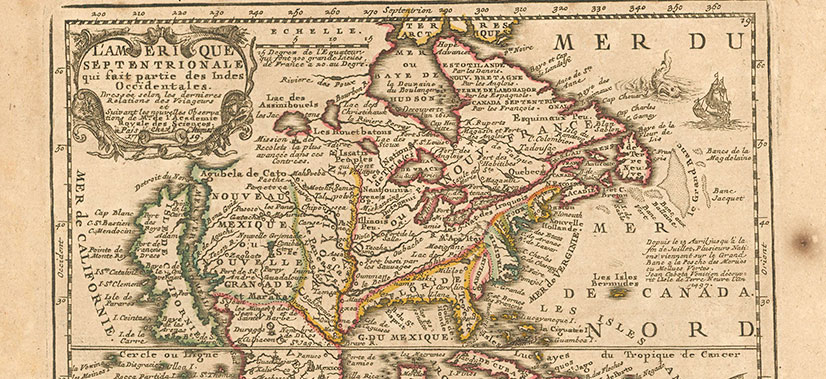 Vintage Map of New France - Canada