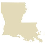 State of Louisiana Antique Maps Icon