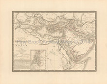 Ancient World Dispersion Antique Map Brue 1827