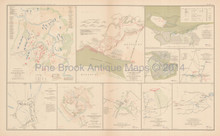 Columbus Kentucky 1862 Civil War Antique Map 1895