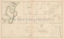 New Madrid Manassas Civil War Antique Map 1895