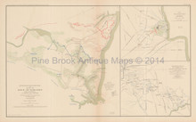 Yorktown Virginia Shiloh Civil War Antique Map 1895