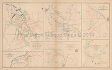 Stone's River Campaign Middle Tennessee Civil War Antique Map 1895
