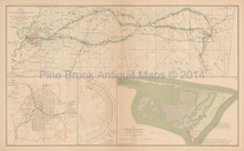 Meridian Mississippi Civil War Antique Map 1895