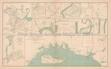 Richmond Virginia Atlanta Civil War Antique Map 1895