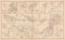 Shenandoah Valley Maryland Civil War Antique Map 1895