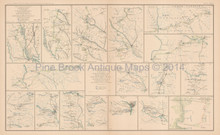 Campaign Of The Carolinas Peninsular Civil War Antique Map 1895