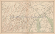New Jersey Pennsylvania Civil War Antique Map 1895