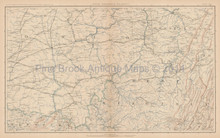 Pennsylvania Maryland Civil War Antique Map 1895