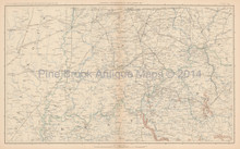 Kentucky Ohio Civil War Antique Map 1895