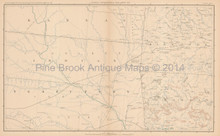 Missouri Arkansas Civil War Antique Map 1895