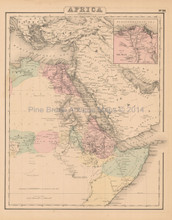 Northeast Africa Antique Map Colton 1858