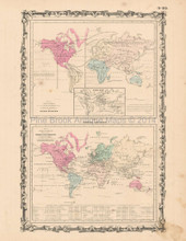 Animal Kingdom Antique Map Johnson 1863  -2