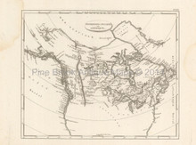 British Possessions America Antique Map Pinkerton 1804