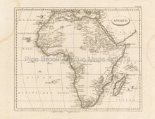 Africa Antique Map Pinkerton 1804