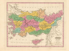 Ancient Asia Minor Antique Map Finley 1831