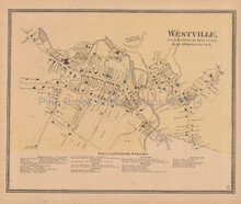Westville Connecticut Antique Map Beers 1868