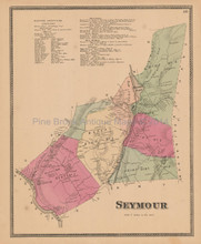 Town Seymour Connecticut Antique Map Beers 1868