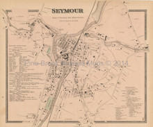 Seymour Connecticut Antique Map Beers 1868
