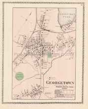 Georgetown Massachusetts Antique Map Beers 1872