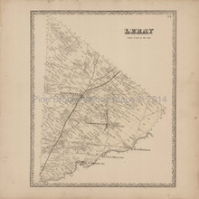 Leray New York Antique Map Beers 1864