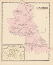 Lynnfield Massachusetts Antique Map Beers 1872