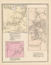 Saugus Center Massachusetts Antique Map Beers 1872