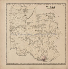 Wilna New York Antique Map Beers 1864
