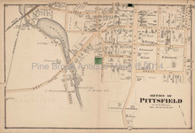 Pittsfield Massachusetts Antique Map Section #2 Beers 1876