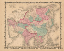 Asia Antique Map Johnson 1862