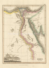 Egypt Antique Map Wyld 1827