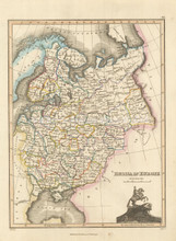 Russia in Europe Antique Map Wyld 1827