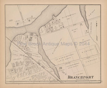 Branchport New Jersey Antique Map Woolman & Rose 1878