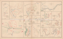 Atlanta Love joy's Station Bethel Civil War Antique Map 1895 circa
