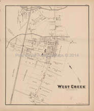 West Creek New Jersey Antique Map Woolman & Rose 1878
