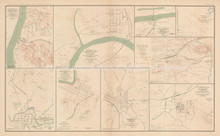 Johnsonville Clarksville Civil War Antique Map 1895 circa