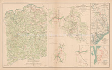 Spotsylvania County Virginia Civil War Antique Map 1895 circa