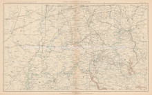 Kentucky Ohio Civil War Antique Map 1895 circa