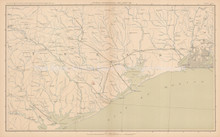 Louisiana Texas Civil War Antique Map 1895 circa