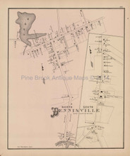 Dennisville North South New Jersey Antique Map Woolman & Rose 1878