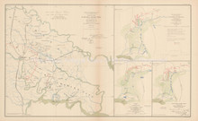 Peninsular Campaign Richmond Civil War Antique Map 1895 circa